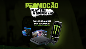 Monster Energy anuncia o sorteio de um Playstation 4 por dia; saiba como participar