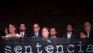 Protesto Catalunha Barcelona Espanha