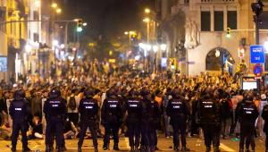 Protestos Catalunha Barcelona Espanha