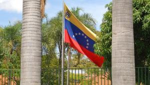 bandeia da Venezuela hastiada