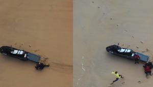 Pedro Scooby mostra vídeo surpreendente de resgate no mar; assista
