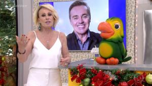 Ana Maria Braga manda 'melhores vibrações' para Gugu Liberato no 'Mais Você'