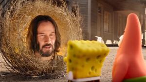 Gary some e Keanu Reeves aparece em novo filme de 'Bob Esponja'; veja o trailer