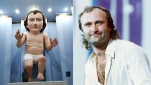 Estátua em Igreja mexicana mira em Jesus e acerta em Phil Collins; veja