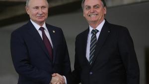 Jair Bolsonaro e Vladimir Putin Brics