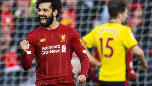 Com gol de letra de Salah, Liverpool vence Watford no Campeonato Inglês