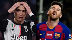 montagem entre Cristiano Ronaldo e Messi