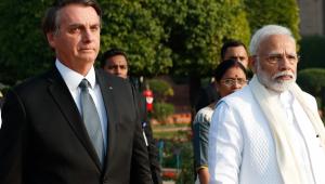 Jair Bolsonaro e Narendra Modi