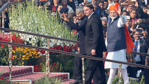 Bolsonaro participa de Dia da República na Índia