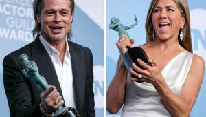 Brad Pitt vê discurso de Jennifer Aniston nos bastidores do SAG; assista