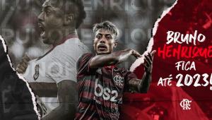 Bruno Henrique estende contrato com o Flamengo até 2023