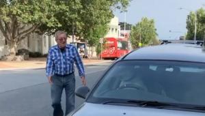 Cachorro é deixado dentro de carro e buzina para chamar o dono; veja