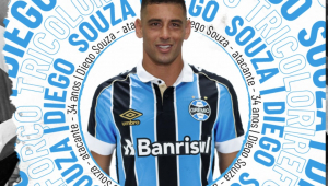 Grêmio oficializa contratação de Diego Souza por uma temporada