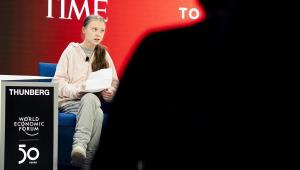 Greta Thunberg em Davos