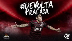 Flamengo anuncia contratação de Pedro por empréstimo: 'De volta pra casa'
