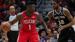 Pelicans perdem dos Spurs em estreia de Zion Williamson na NBA