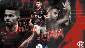 Flamengo oficializa contratação de volante Thiago Maia por empréstimo