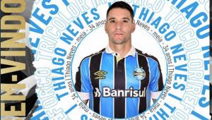 Grêmio anuncia Thiago Neves com previsão do tempo: 'Rajadas de neve'