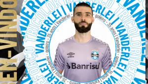 Grêmio entra em acordo com o Coritiba e anuncia o goleiro Vanderlei, ex-Santos