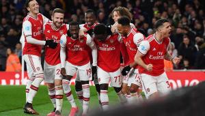 Arsenal se recupera com goleada, e Tottenham vence com gol nos acréscimos