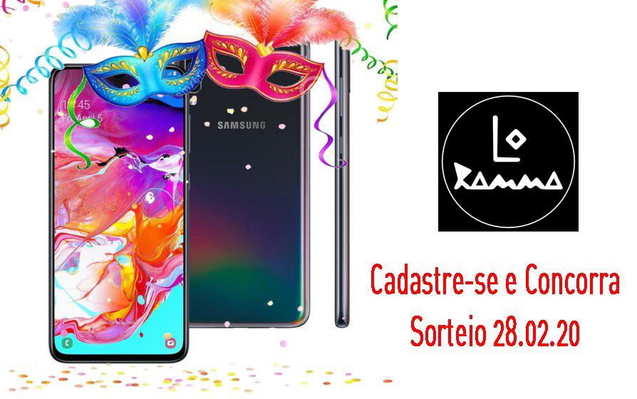 Concorra a um Celular Samsung Galaxy A70 da Banda Lo Ramma