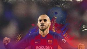 Barcelona oficializa contratação de Braithwaite e impõe multa rescisória de 1,4 bi