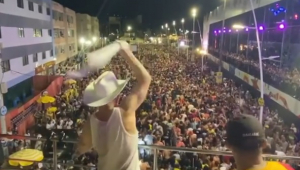 Tiroteio deixa duas pessoas feridas durante apresentação de Diplo em bloco de Carnaval