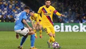 Barcelona joga mal, mas arranca empate com Napoli e fica a uma vitória das 4ªs