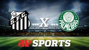Santos x Palmeiras: acompanhe a transmissão da Jovem Pan