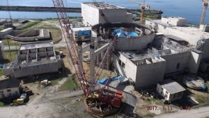 vista geral da usina nuclear de angra 3 em construção