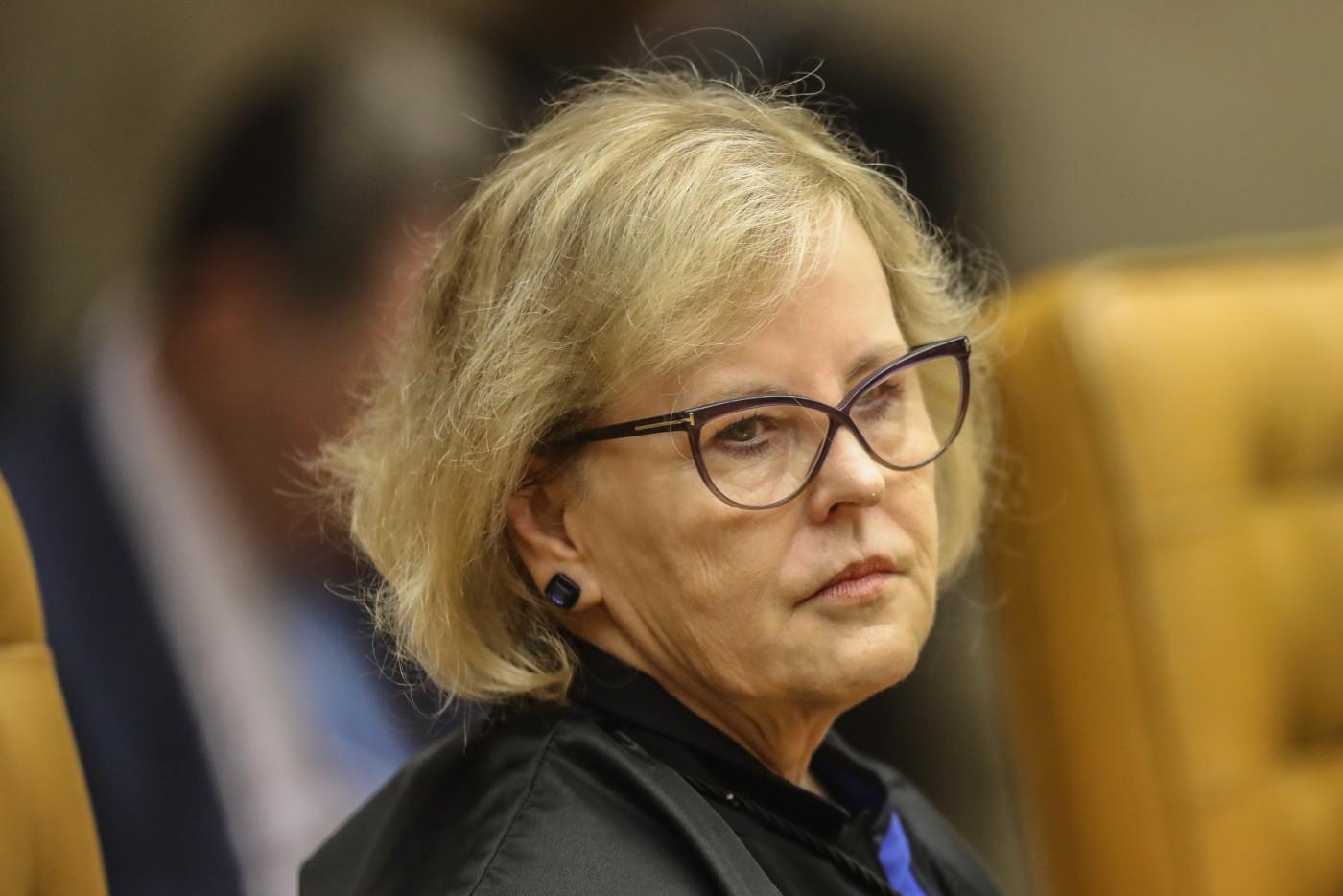 Ministra do STF em plenário da Corte
