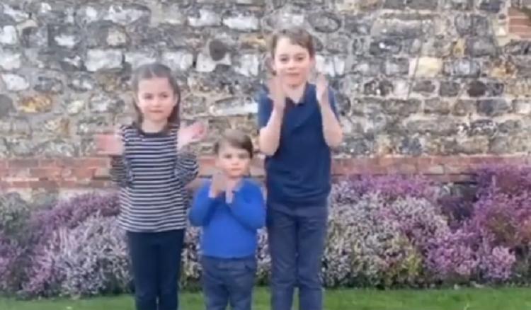 filhos do principe william e kate middleton aplaudem profissionais da saude jovem pan filhos do principe william e kate