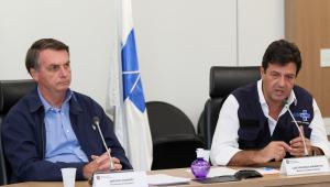 Bolsonaro e Mandetta em reunião