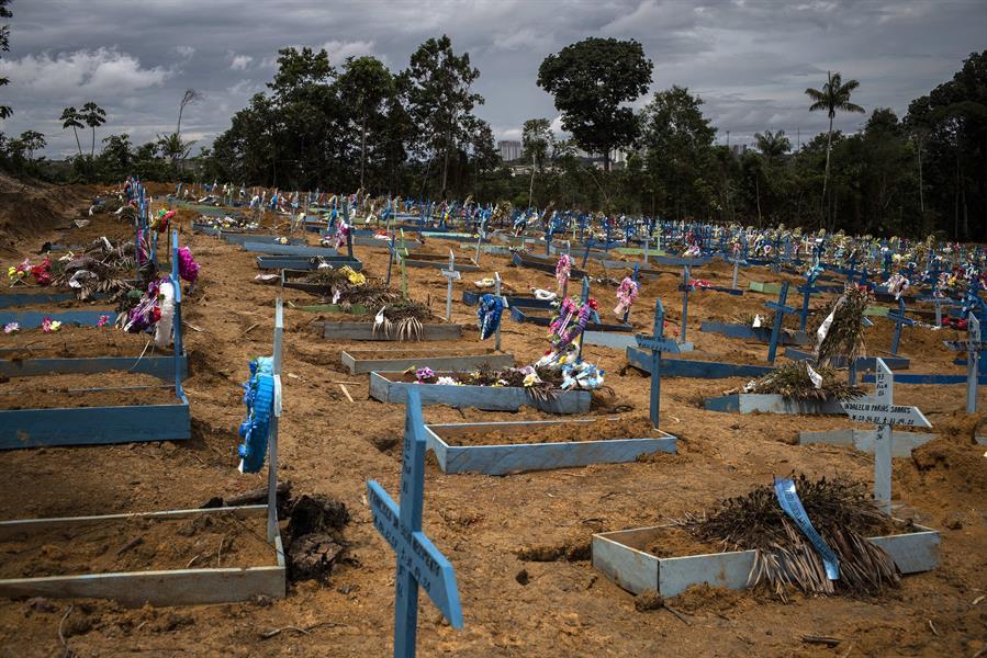 Vítimas da Covid-19 são enterradas em valas comuns de Manaus