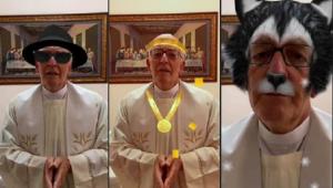 Sem querer, padre faz oração na web com filtros ativados: 'Deus quer também um pouco de alegria'