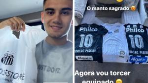 Andreas Pereira ganha presente do Santos: 'agora vou torcer equipado'