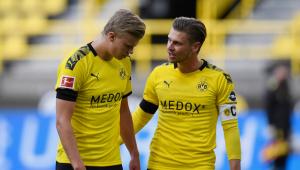 Haaland vira desfalque no Borussia Dortmund após se chocar com o árbitro