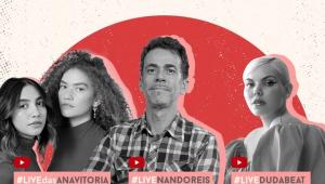 Duda Beat, Nando Reis e Anavitória se unem em live de Dia dos Namorados