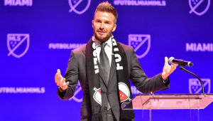Beckham é dono do Inter Miami, dos Estados Unidos