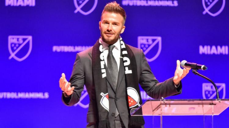 Beckham é dono do Inter Miami, dos Estados Unidos