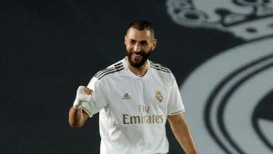 Karim Benzema durante partida do Real Madrid