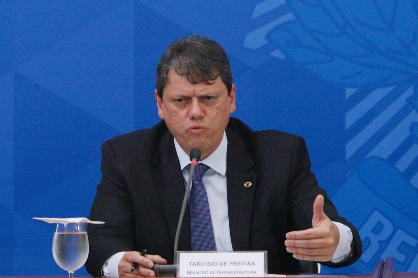 Tarcísio de Freitas é o atual ministro da Infraestrutura do Brasil