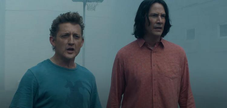 Keanu Reeves e Alex Winter viajam no tempo no trailer de 'Bill ...