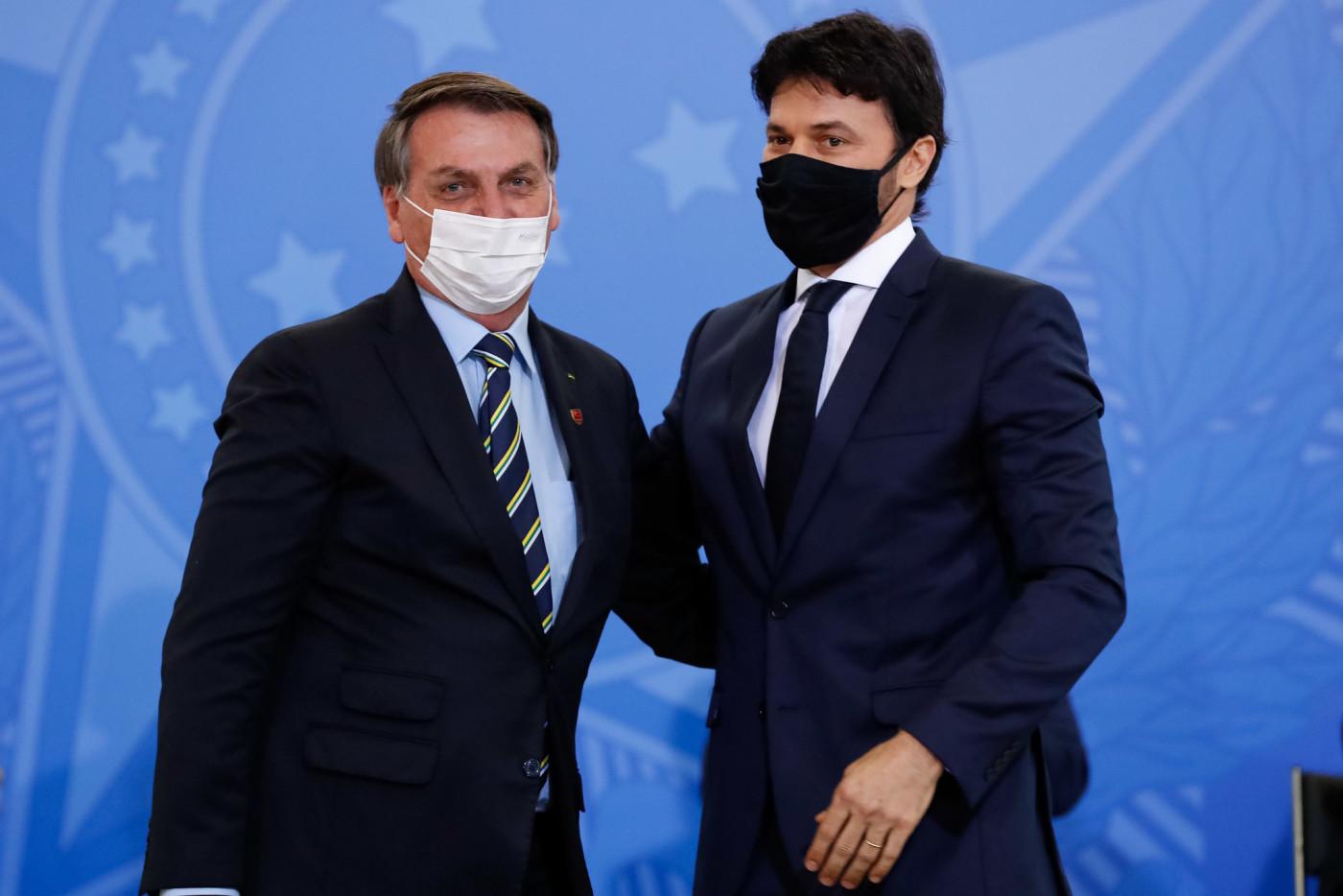 Fábio Faria e Jair Bolsonaro