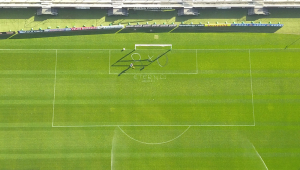 Exclusivo: Drone da JP flagra funcionário do Corinthians removendo pichações da Arena; assista