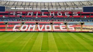 Flamengo prepara mosaico para final contra o Flu: '42 milhões com vocês'