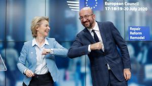 Ursula Von Der Leyen and European Council President Charles Michel (
