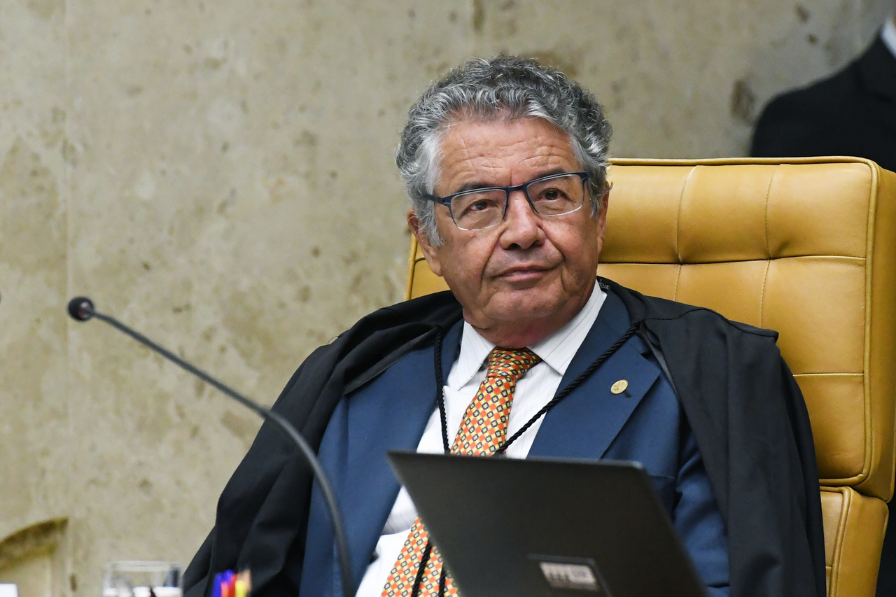 O ministro Marco Aurélio Mello do Supremo Tribunal Federal