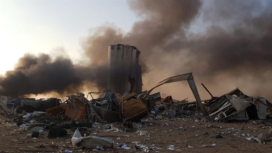Imagens impressionantes mostram explosão em Beirute, no Líbano ...