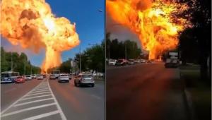 Rússia: Vídeos mostram enorme explosão em posto de gasolina; assista